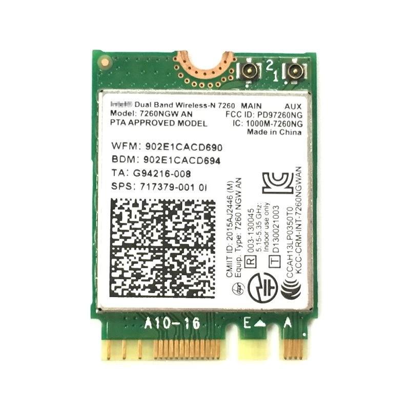 Intel 7260NGW AN wireless card Bluetooth 4.0 ngff